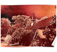 Norcliffe Chapel Monochrome Poster