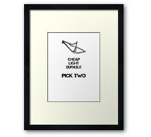 Bike Parts Dually MTB (for light shirts) Framed Print