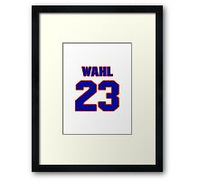 National baseball player Kermit Wahl jersey 23 Framed Print