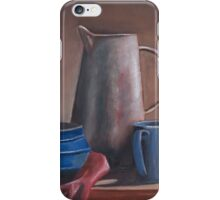 Still life with water jug iPhone Case/Skin