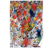 Flowers on White Table Cloth Poster