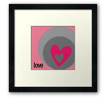 LOVE 1 Framed Print