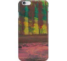 poplar. evening at the lake iPhone Case/Skin