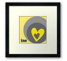 LOVE 3 Framed Print