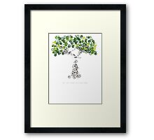 Bike Tree (white) Framed Print