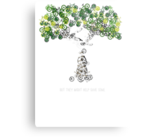 Bike Tree (white) Metal Print