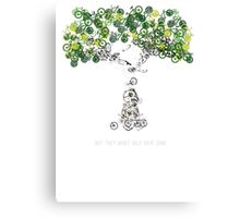 Bike Tree (white) Canvas Print
