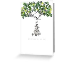 Bike Tree (white) Greeting Card