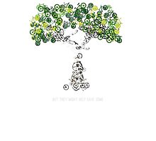 Bike Tree (white) Photographic Print