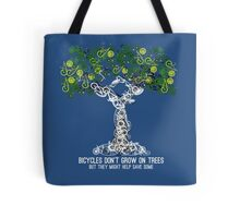 Bike Tree (white) Tote Bag