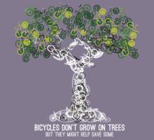 Bike Tree (white) Kids Tee