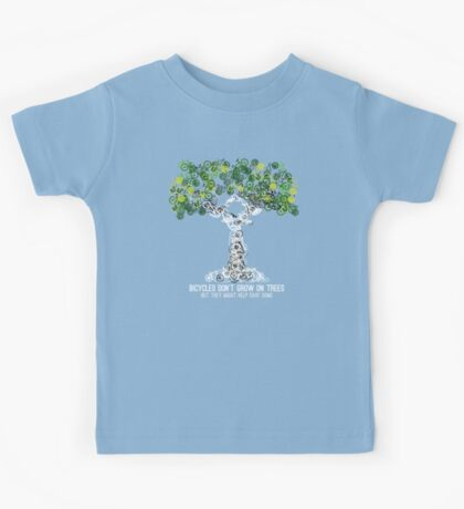 Bike Tree (white) Kids Tee