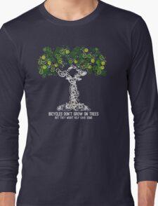 Bike Tree (white) Long Sleeve T-Shirt