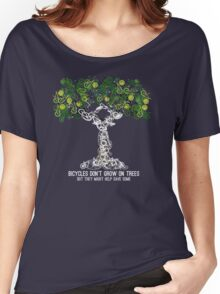 Bike Tree (white) Women's Relaxed Fit T-Shirt