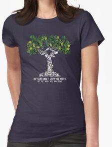 Bike Tree (white) Womens Fitted T-Shirt