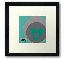 LOVE 9 Framed Print