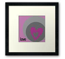 LOVE 10 Framed Print
