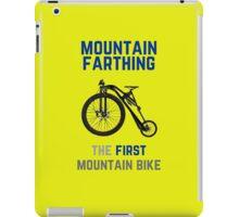 The First Mountain Bike: the mountain farthing iPad Case/Skin