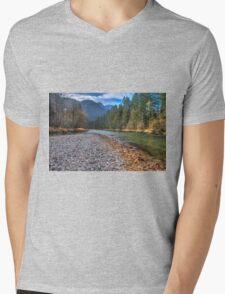 River bank Mens V-Neck T-Shirt