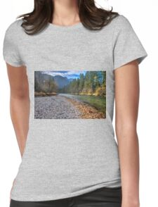 River bank Womens Fitted T-Shirt