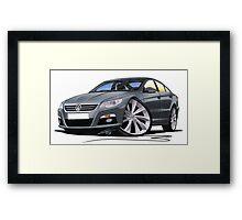 VW Passat CC Grey Framed Print