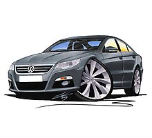 VW Passat CC Grey Photographic Print