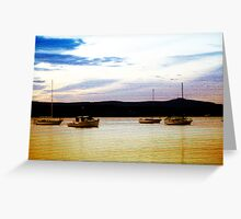Anchors Down Greeting Card