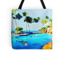 Corky's diving Tote Bag