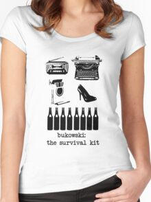 Bukowski: the survival kit Women's Fitted Scoop T-Shirt