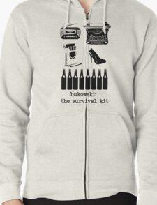 Bukowski: the survival kit Zipped Hoodie