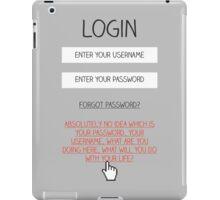 Honest Login iPad Case/Skin