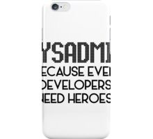 SysAdmin iPhone Case/Skin