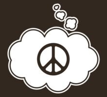 Think Peace. Thought Bubble T-shirt by dropSoul