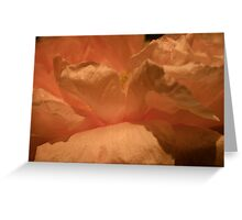 Flowing Peony Greeting Card