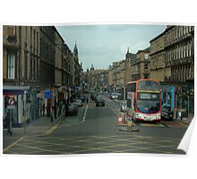 Edinburgh Approaching from the South Poster