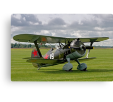 "Polikarpov I-15bis ""Chaika"" 4439 white 19 Canvas Print"