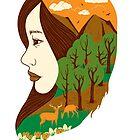 girl and nature by motymotymoty
