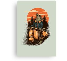 lonely rider Canvas Print