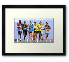 Corky in a Marathon Framed Print