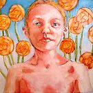 Isabel with Orange Flowers by Rachel  Aponte