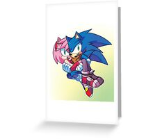 Sonic Boom - Sonic & Amy Rose Greeting Card