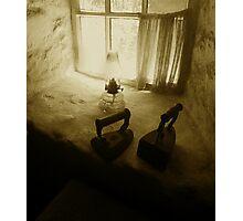 Cultra Irons on window ledge 1910 Photographic Print