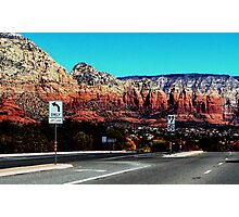 Sedona approach. Highway 79...err..I think Photographic Print