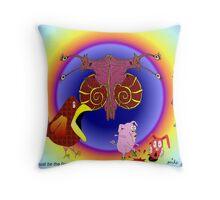 L'escargot waltz Throw Pillow