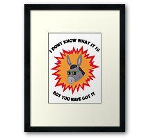 Awesome Donkey Framed Print