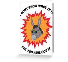Awesome Donkey Greeting Card