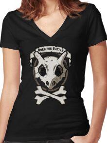 Born for battle! Women's Fitted V-Neck T-Shirt