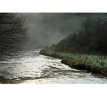 Misty River, Wolfscote Dale Photographic Print