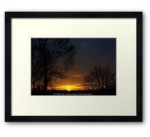 Brookline, Pa - December 2013 Sunrise (1) Framed Print