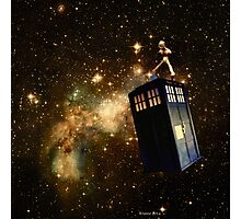 Whobox & the Inter-Galactic hitchhiker Photographic Print